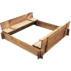 VidaXL 41722 - Bac à sable carré en bois imprégné