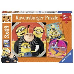 Ravensburger Moi, Moche et Méchant 3 - Puzzles 3 x 49 pièces