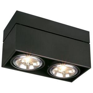 SLV Plafonnier Ampoule halogène G53 EEC: selon lampoule (A++ - E) 100 W Kardamod 117130 noir (mat)