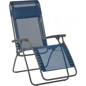 Lafuma Chaise longue relax pliante multiposition en acier et toile Batyline R CLIP Lac