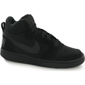 Nike Court Borough Mid (Gs), Chaussures de Sport-Basketball Garçon, Blanc, Noir (Black / Black / Black), 36.5 EU