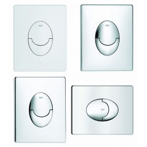 Grohe Plaque de commande WC Skate Air - Finition : CHROME - Montage horizontal -