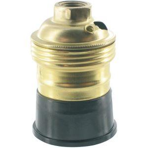 L'ébénoïd Douille E27 en laiton / backélite 150 Watts Ø10 mm - EBENOID