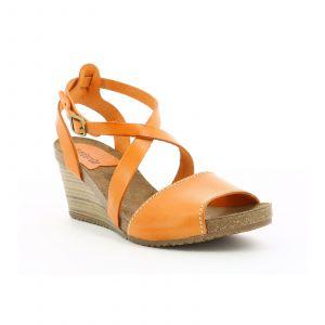 Kickers Spagnol - Sandales et nu-pieds Femme, Orange