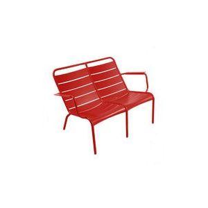Fermob Luxembourg 119 cm - Banc de jardin 2 places aluminium empilable