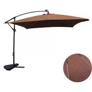Concept-Usine Solenzara Néon chocolat : parasol LED déporté 3x3m