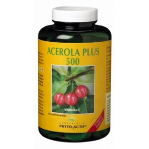 Phyto-Actif Acérola plus 500 - 100 comprimés sécables