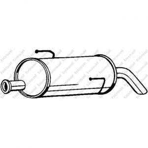 Bosal Silencieux arrière 190-001