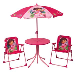 Fun House Set de jardin Dora (table + parasol + chaises)