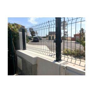 Cloture & Jardin Kit Grillage Rigide Gris 10M - Fil 4mm - Sur Platines - 1.53 mètre