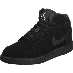 Jordan 1 Mid Gs Hi Sneaker chaussures noir noir 38 = 5,5Y EU