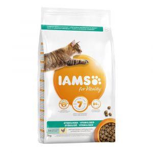IAMS For Vitality Adult Sterilised poulet pour chat - 3 kg