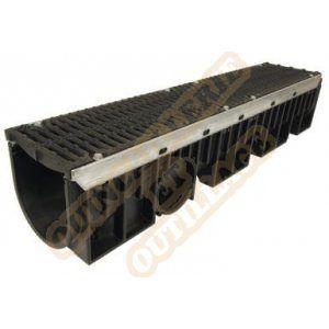 Nicoll Caniveau 1m grille fonte D400 profondeur 2 largeur 200 DR202DF