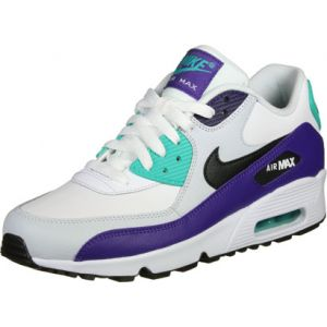 Nike Chaussures enfant AIR MAX 90 LEATHER GS blanc - Taille 36,38,39,35 1/2,37 1/2,38 1/2,36 1/2