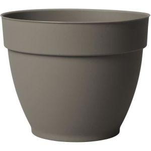 Deroma Pot plastique à réserve d'eau Diam.21.6 x H.17 cm taupe