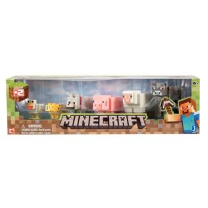 Jazwares Coffret 6 animaux figurines Minecraft