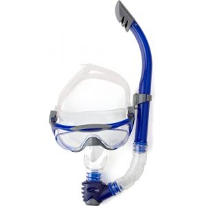 Speedo Masque de plongée et tuba Bleu