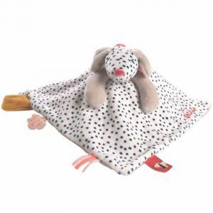 Noukie's Doudou plat Tidou Amy veloudoux Amy & Zoé chien rose