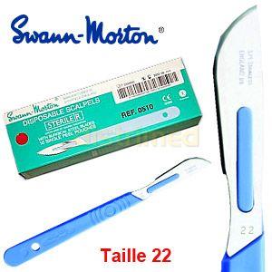 Image de Swann-Morton Bistouris stériles à usage unique u22 (boîte de 10)