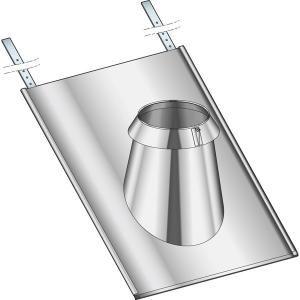 Poujoulat 20150074 - Solin inox 30 à 45 ardoise 150 non peint sorties de toit rondes diamètre 150 ou 155 SIA45150TZ