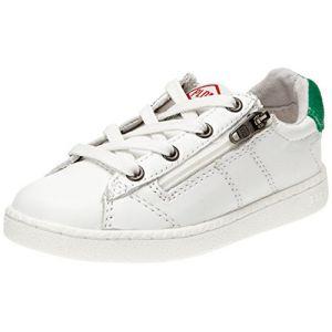 PLDM by Palladium Malo Cash, Baskets mode mixte enfant, Blanc (054 White/Green), 32 EU