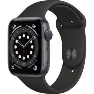 Apple Watch 44MM Alu Gris/Noir Series 6 - Montre connectée