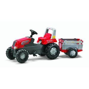 Rolly Toys Tracteur à pédales Rolly Junior avec remorque