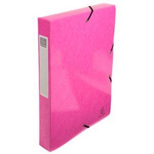Exacompta 59924E - Boîte de classement carte IDERAMA, dos de 40, coloris rose