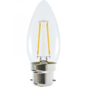 Lampesecoenergie Ampoule Led Flamme Filament 4 watt (éq. 42 Watt) Culot B22 à baïonnette