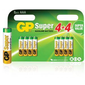 GP Batteries Super alcalines AAA/LR03 1.5 V Super 8pcs blister