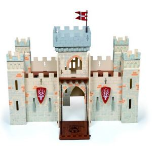 Papo Château des chevaliers en bois modulable