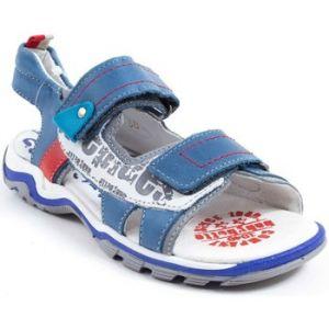 Babybotte Karibou, Sandales Bout Ouvert Garçon, Bleu (424 Jeans), 32 EU (UK Child 13 Enfant UK)