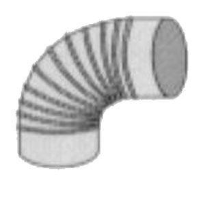 Isotip Joncoux Conduit de fumée alu - Coude à 90° diamètre 111mm - : 012111
