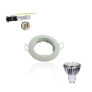 Superled Kit Spot LED GU10 COB dimmable 5W équivalent 50W Blanc chaud 2700K fixe