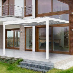 Pergola aluminium adossée 12 m² Cadix blanche