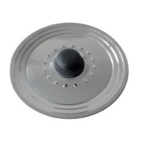 Baumalu Couvercle trou vapeur multi degrés avec trou vapeur en inox 22/24/26 cm