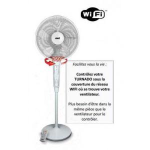 Ewt TURNADO360 - Ventilateur sur pied WIFI Oscillant  360° 3 vitesses
