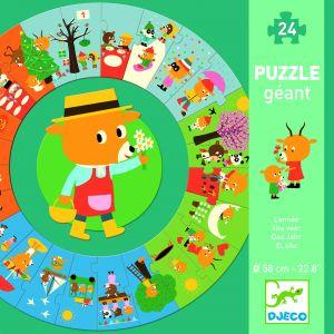 Djeco Puzzle géant l'année - 24 pièces
