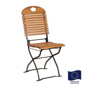 Foresta Bistro - Chaise pliable en acacia
