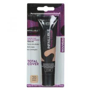 L'Oréal Infaillible fluide total cover - Fond de teint 20 sables 35 ml 23 beige éclat