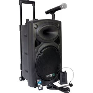 Ibiza Sound Ibiza PORT12VHF-BT Sonorisation portable 12'' USB/SD/AUX/MP3/Bluetooth Noir