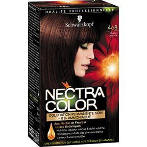 Schwarzkopf Nectra Color 468 Châtain Chocolat - Coloration permanente soin 0% ammoniaque