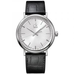Calvin Klein K3W211C6 - Montre Homme - Quartz Analogique - Bracelet Cuir Noir