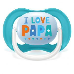 Philips Lot 2 sucettes ultra air - I love papa et bateaux - 6-18 mois
