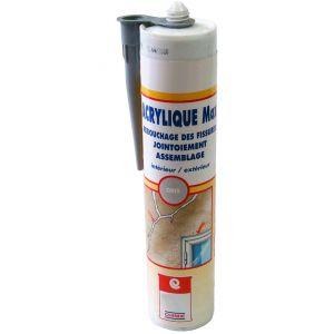 Arcane industries MASTIC ACRYLIQUE MAX - Mastic acrylique Joint d étanchéité SNJF 1ère catégorie reprise de fissure maçonnerie menuiserie | gris - 25 cartouches de 310 ml