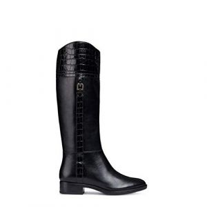 Geox D Felicity C, Bottes Hautes Femme, Noir (Black C9999), 39 EU