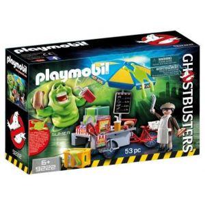 Playmobil 9222 - Ghostbusters : Bouffe-tout avec stand de hot-dog