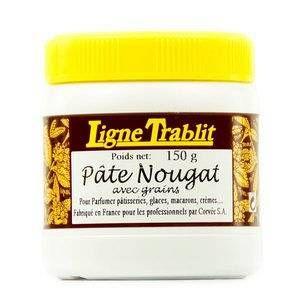 Ligne Trablit Pâte parfum nougat pour pâtisserie - Pot 150g