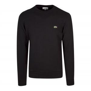 Lacoste Homme Sweat-Shirt à Logo, Noir, XL