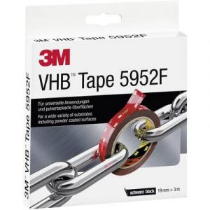 3M VHB Hochleistungsklebeband 5952F, 19 mm x 3 m, schwarz - par 1 - Rubans de montage & velcro, Scotch